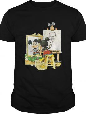 Walt Disney and Mickey Mouse self-portrait shirt