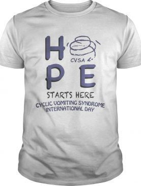 HPE CVSA starts here Cyclic Vomiting Syndrome international day shirt