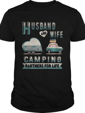 Husband and wife camping partners for life shirt, ladies shirt
