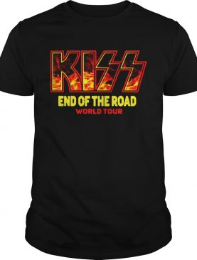 Kiss band end of the road world tour shirt