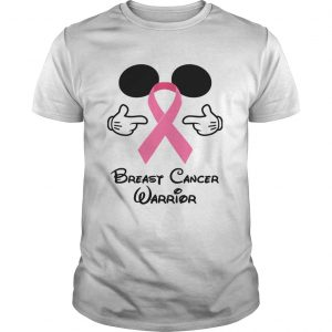 Guys Mickey Mouse breast cancer warrior shirt