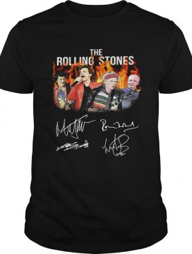 The Rolling Stones Ronnie Wood Mick Jagger Keith Richards Charlie Watts signature shirt