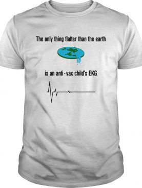 The only thing flatter than the earth is anti-vax child's EKG shirt