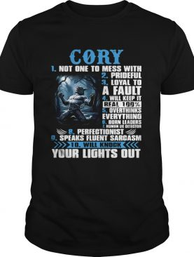 Werewolf Cory 1 Not one to mess with 2 Prideful 3 Loyal to a fault shirt