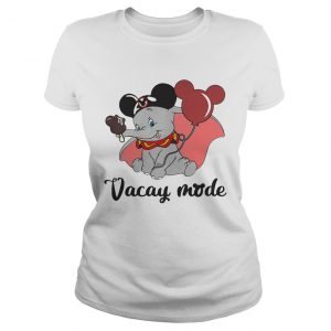 Dumbo loves Mickey Mouse vacay mode Ladies Tee