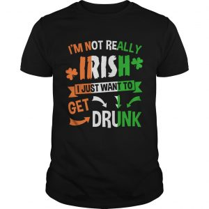 Guys Im not really Irish I just want to drunk shirt
