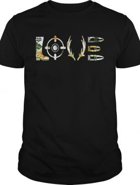 Love Hunting With Sunflower Gift Shirt