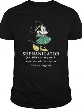 Mickey Mouse Shenanigator definition meaning a person who instigates Shenanigans shirt
