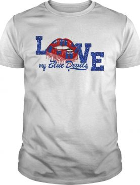 Rocky Horror Lips love my Blue Devils Drum and Bugle Corps shirt