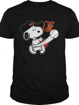Snoopy Play Baseball T-Shirt For Fan Orioles Team