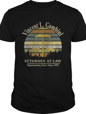 Vincent L Gambini Attorney At Law Representing Yutes Since 1992 sunset shirt