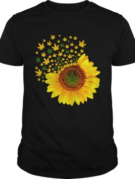 Weed sunflower shirt