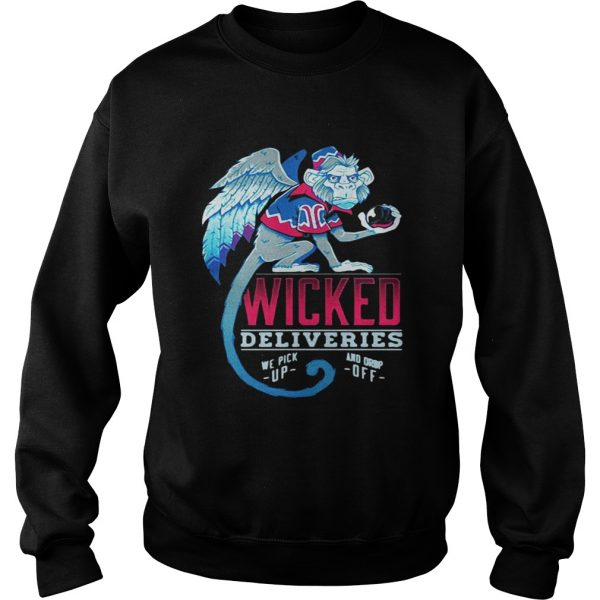 Sweatshirt Monkey Wicked Deliveries we pick up and drop off shirt