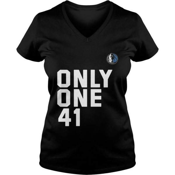 Dallas Mavericks Dirk 41.21.1 Only One 41 Ladies Vneck