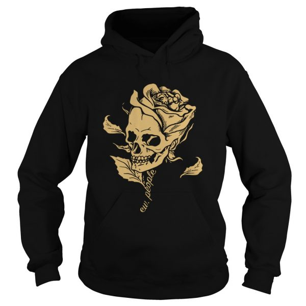 Dark Art Beauty in Everything Smiling Skull and Rose Hoodie