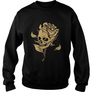 Dark Art Beauty in Everything Smiling Skull and Rose Sweatshirt
