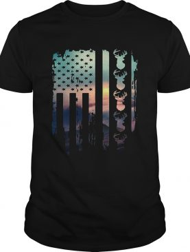 American flag hunting shirt