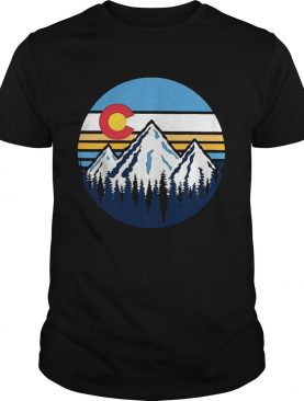 Colorado Mountains Retro Vintage Vibe Design shirt