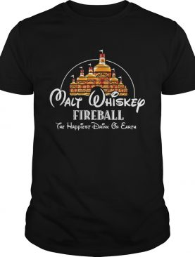 Disney Malt Whiskey Fireball the happiest drink on Earth shirt