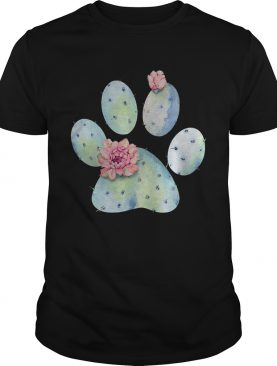 Dog paws cactus and flowers shirt
