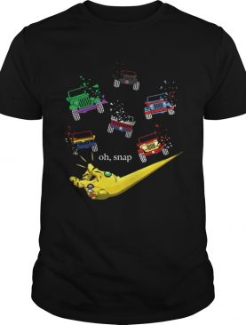 Gauntlet war snap disappears jeep shirt