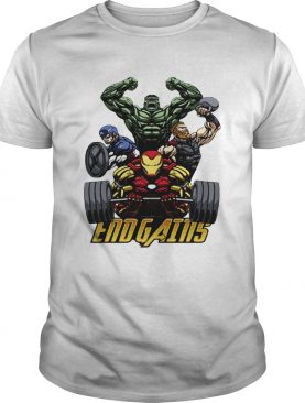 Gym Hulk Captain America Thor Iron Man Endgains tshirt