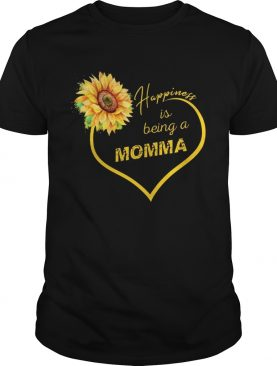Happiness Is Being A Momma Sunflower T-shirt