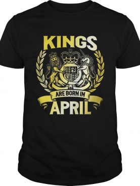Kings Are Born In April Birthday Men T-shirts