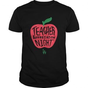 Guys LA Dodgers Teacher Appreciation Night RedForEd shirt