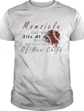 Momsicle One Who Sits As A Ballpark And Freezes For The Love Of Her Child Softball Plaid Version – Tshirts