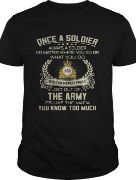 Once a soldier always a soldier no matter where you go or what you do shirt