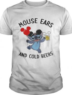 Stitch mouse ears and cold beers shirt