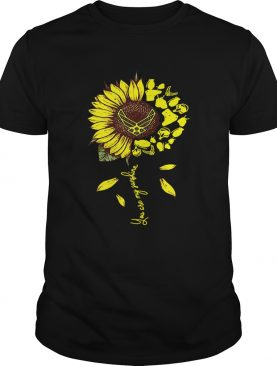 US Air Force sunflower you are my sunshine shirt