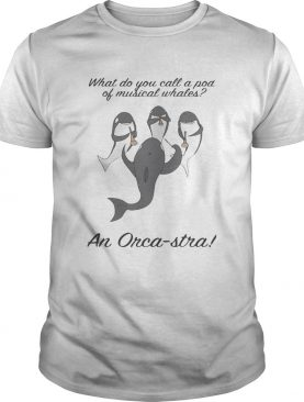 What do you call a pod of musical whales and Orca-Stra shirt