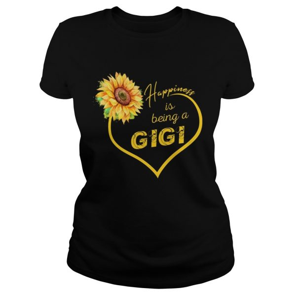 Happiness Is Being A Gigi Sunflower Ladies Tee