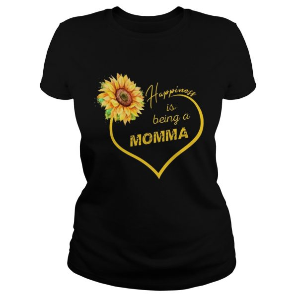 Happiness Is Being A Momma Sunflower Ladies Tee