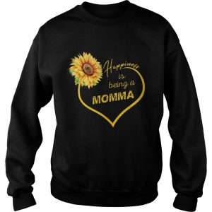 Happiness Is Being A Momma Sunflower Sweatshirt