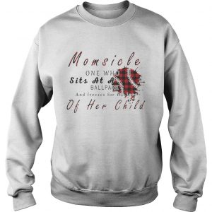 Momsicle One Who Sits As A Ballpark And Freezes For The Love Of Her Child Softball Plaid Version Sweatshirt