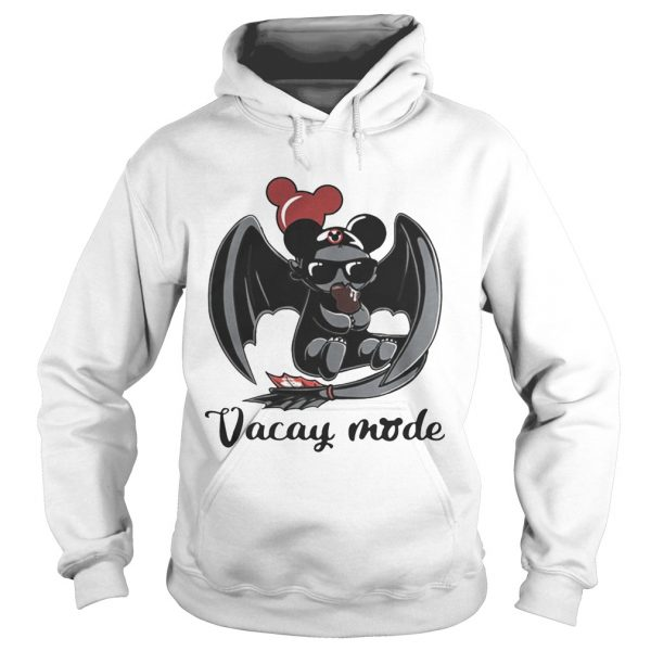 Night Fury Toothless vacay mode balloon mickey mouse Hoodie