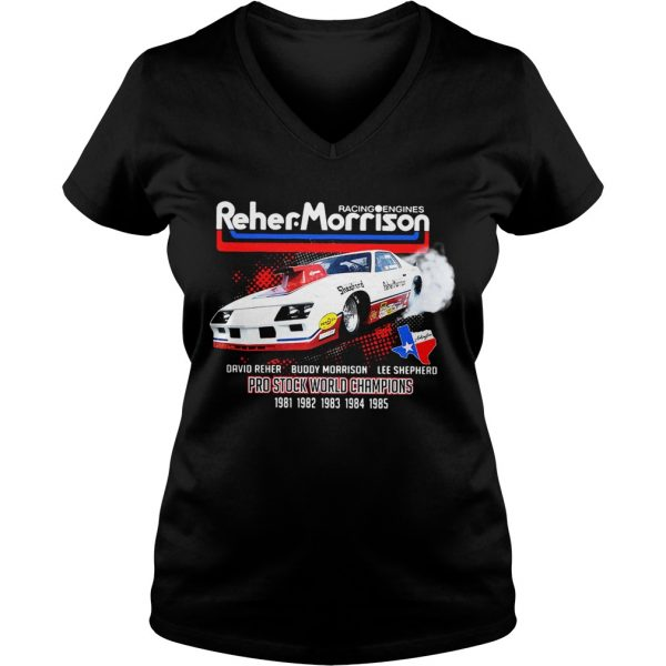 Racing engines Reher Morrison David Reher Buddy Morrison Lee Shepherd Ladies Vneck