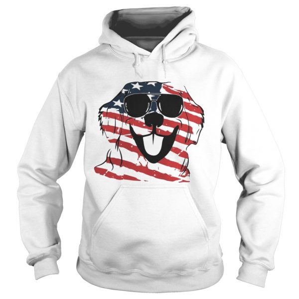 4th Of July Golden Retriever American Flag Hoodie