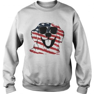 4th Of July Golden Retriever American Flag Sweatshirt
