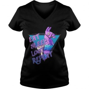 Eat Sleep Loot Repeat Ladies Vneck