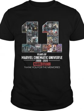 11 years of Marvel Cinematic Universe 2008 2019 Marvel Studios thank you for the memories tshirt