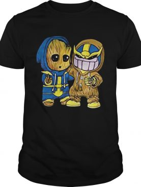 Baby Groot and Thanos t-shirt