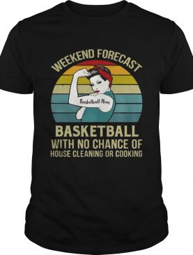 Basketball Mom Weekend Forecast With No Change Vintage T-Shirt