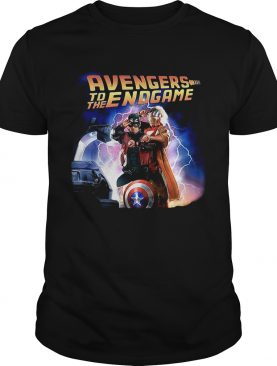 Captain America and Iron Man back to the future Avengers to the Endgame shirt