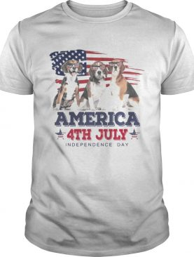 Cool Beagle America 4th July Independence Day T-shirt