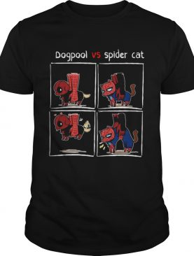 Dogpool and Spider Cat Deadpool and Spiderman shirt