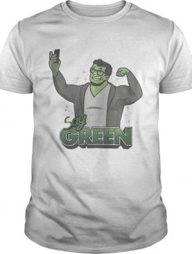 Hulk Avengers endgame say green shirt